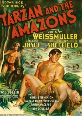 TARZAN AND THE AMAZONS – TARZAN E AS AMAZONAS – 1945